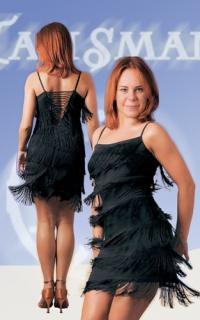 Платье бахрома латина